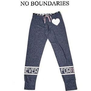 NO BOUNDARIES Forever Blue Sweat Jogger Pants